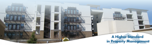 view of apartments with balconies